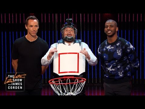 Human Basketball Hoop w/ Steve Nash & Chris Paul
