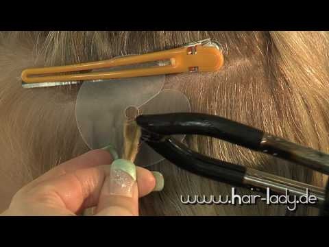 Haar-Lady Haarverlängerung mit Extensions aus Echthaar (Wärmezange, Connector) www.haar-lady.de