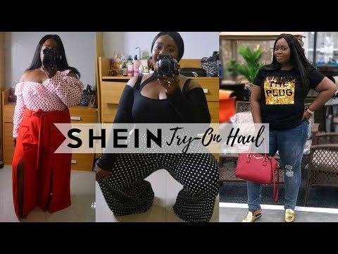 TOTALLY WRONG SIZE CHART!? SHEIN PLUS TRY-ON HAUL | CHANTEL ANYANWU