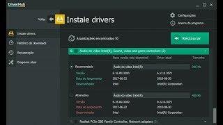 driverhub   شرح أفضل برنامج لتتبيث جميع الدرايفرات أو التعريفات الناقصة في جهازك بالمجان
