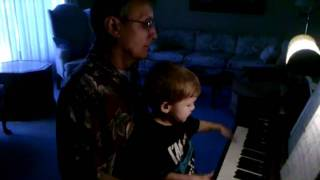 Adam and grandpa at the piano part II