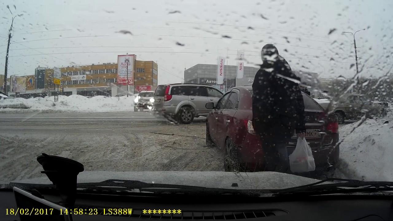 Тройное ДТП в Архангельске