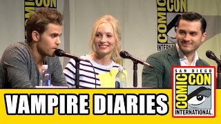The Vampire Diaries Comic Con 2015 Panel - Ian Somerhalder, Paul Wesley, Candice Accola, Season 7