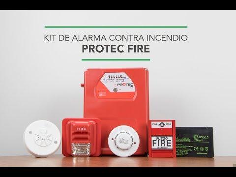 ¿Qué contiene el kit de alarma contra incendio PROTEC FIRE?