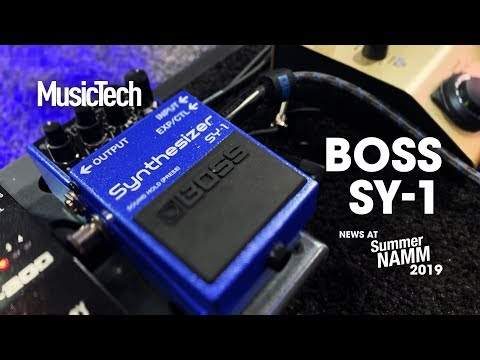 Get 121 synth sounds from your guitar with Boss SY-1 #SummerNAMM2019