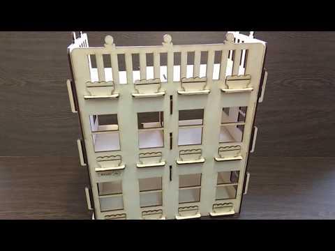 Кукольный домик из фанеры 3 Этажа (Инструкция по сборке)