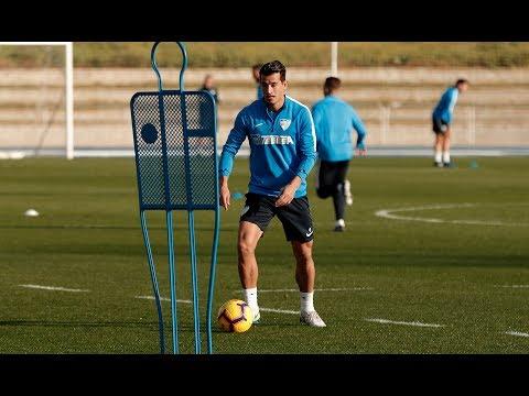 Álex Mula vuelve a entrenarse con el Málaga