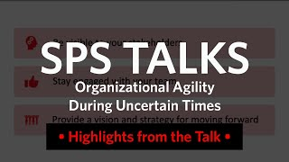 SPS Talks: The Importance of Communications in Uncertain Times (Recap)