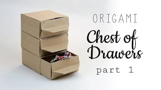 Origami Chest Of Drawers Tutorial - Part 1 - Shelf - Paper Kawaii