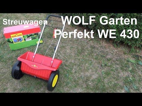WOLF Garten Streuwagen Perfekt WE 430 Test Montage und Rasen düngen im Herbst