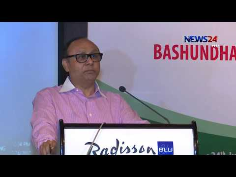 Bashundhara Group Chairman Ahmed Akbar Sobhan addressing at land leasing ceremony on Monday (July 24)