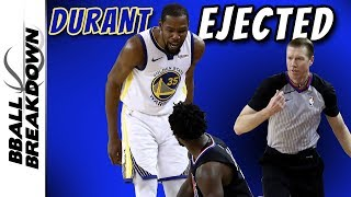 Durant Ejected, Doc Dejected As Clippers Can't Stop Steph in Game 1