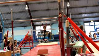 level 5 gymnastics bars routine at york gym