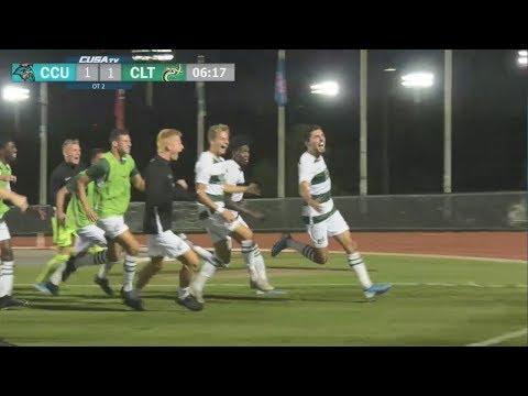 Charlotte 49ers Men's Soccer vs. Coastal Carolina Game Highlights