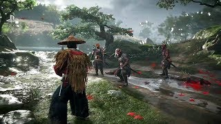 Ghost of Tsushima (PS4) - E3 2018 Gameplay Demo @ 1080p HD ✔