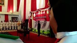 66 Siswa Dikukuhkan Menjadi Paskibraka Sumatera Utara