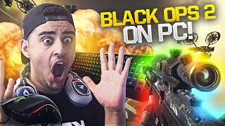 PLAYING BLACK OPS 2 ON PC!!