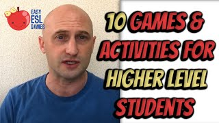 10 Games & Activities for Higher Level Students in Online Zoom Classes | Easy ESL Games