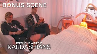 "Kim Kardashian Endures a ""Devil""-ish Red Carpet Facial 