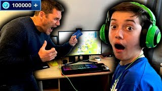 Kid spends £5000 On Fortnite Battle Royale! (Buying To Tier 100!)