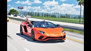 Lamborghini Aventador S Roadster Screaming V12 BULLS Driving Experience from Lamborghini Miami