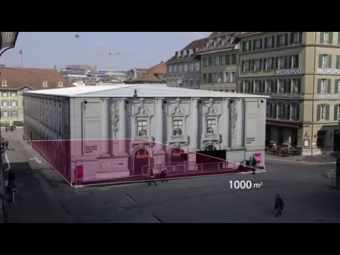 Temporary Theater Cube in Bern