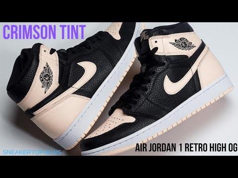 The Air Jordan 1 Retro High OG Crimson Tint Release Date April 27 2019