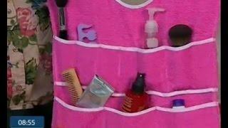 Как сделать органайзер для ванных принадлежностей - Утро с Интером