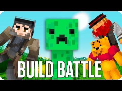 ¡LA GRANJA DE CREEPERS! BUILD BATTLE   Minecraft con Luh y Macundra