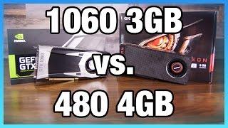NVIDIA GTX 1060 3GB vs. AMD RX 480 4GB Benchmark