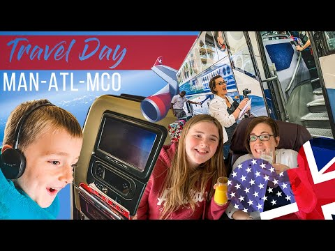 Disney World Travel Day - Day 1 | Manchester - Atlanta - Orlando | Virgin Atlantic | Premium Economy