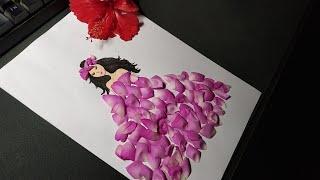 Rose Petal Dress L Beautiful Rose Petal Girl Dress L Flower Girl Dress Tutotial