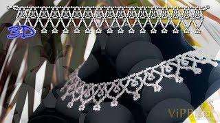 Ожерелье из бисера.3D Урок.