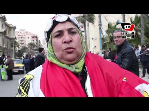 احتفالات بالإسكندرية في ذكرى الثورة