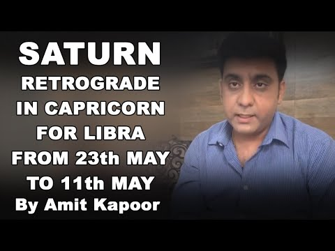 SATURN(SHANI) RETROGRADE IN CAPRICORN ♑️ FOR LIBRA ♎️ FROM 23th MAY TO 11th MAY