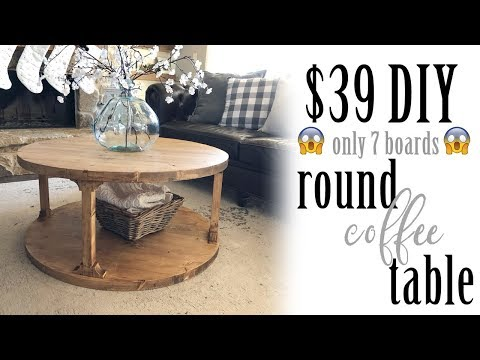 Download $39 DIY Round Coffee Table Mp4 HD Video and MP3