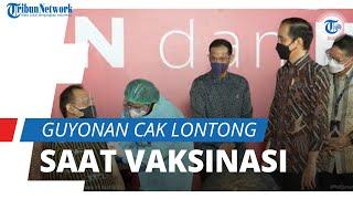 Jokowi Kunjungi Seniman dan Budayawan yang Jalani Vaksinasi Covid-19, Cak Lontong Lemparkan Guyonan