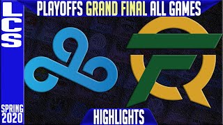C9 vs FLY Highlights ALL GAMES | LCS Spring 2020 Playoffs GRAND FINAL | Cloud9 vs FlyQuest