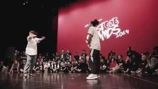 Last One Stands 2014 Hip-Hop Semi-Final: NATASHA (Vancouver) VS ALEX THE CAGE (Belgium)