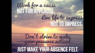 OpenM: Daily quotes - Work for a cause not for applause