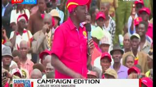 Campaign Edition :  William Ruto's speech at Makueni
