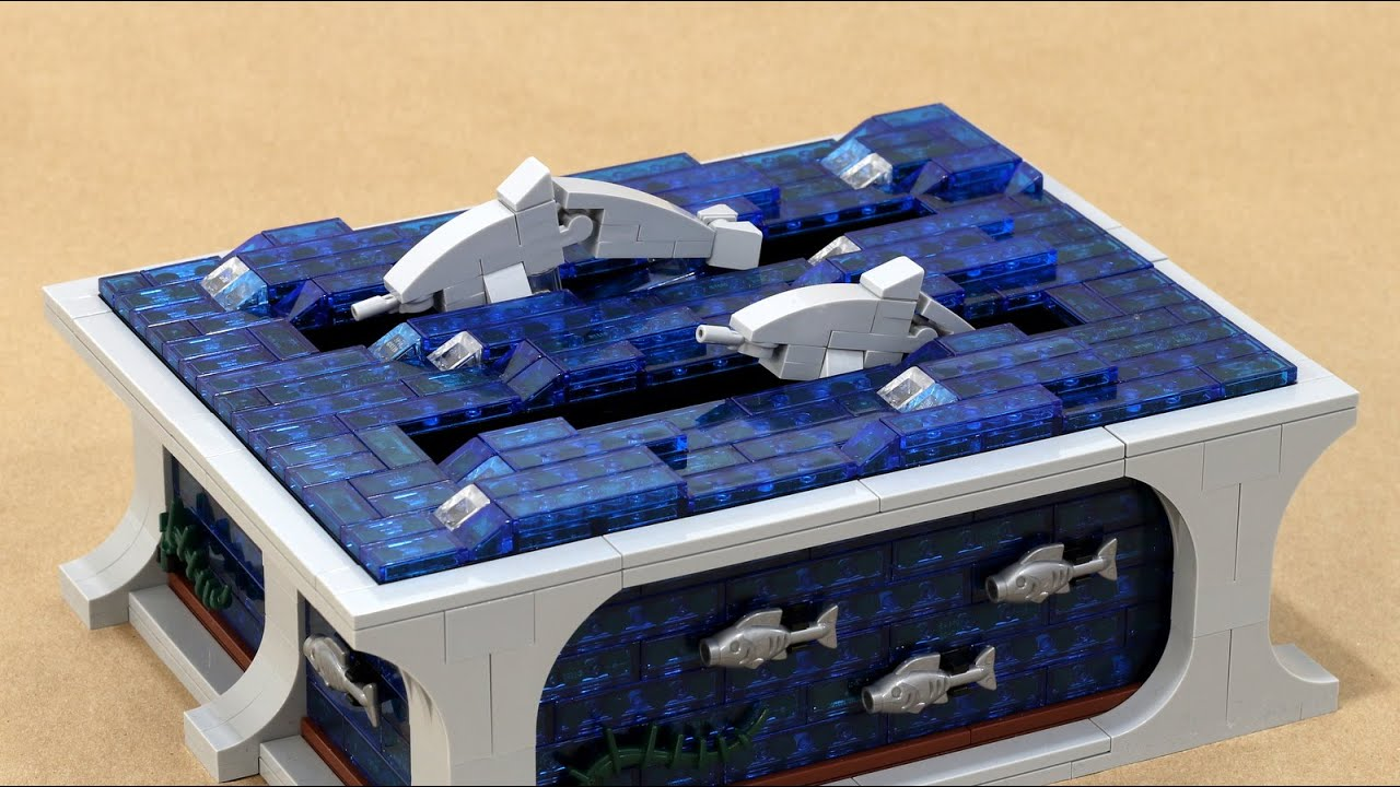 Swimming Dolphins Kinetic LEGO Sculpture