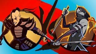 Shadow Fight 2 Бой с тенью #11 Тигр Разбойник Задира Ниндзя Чертовка Змей Мультик игра #КИД