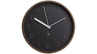 "Rimwood Walnut 10"" Round Wall Clock"