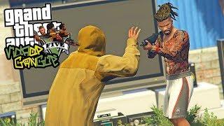 GTA V : VIDA DE GANGSTER   Invadimos a QUEBRADA do CJ e Derrubamos o BONDE dele!!!   EP#07