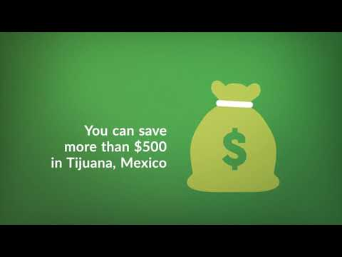 What is the Average Cost for Gum Contouring in Tijuana, Mexico?