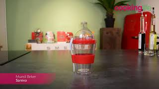 Sareva Muesli Beker Yoghurt 2 Go Zwart met lepel