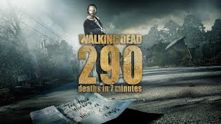 Ходячие мертвецы, The Walking Dead || 290 deaths in 7 minutes (1-6 season)
