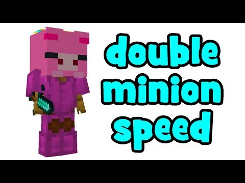 doubling minion efficiency with a simple build (hypixel skyblock) [DESCRIPTION]