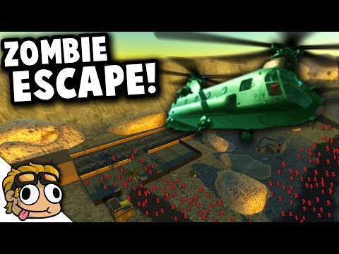 ZOMBIE SURVIVAL HELICOPTER ESCAPE! | Ravenfield Best Mods Gameplay